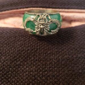 Other - Men's green enamel ring